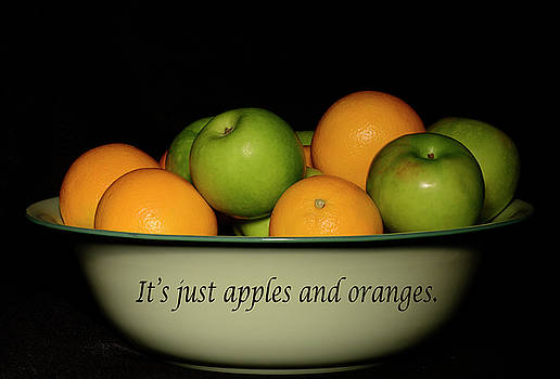 It's Just Apples and Oranges by Angie Tirado
