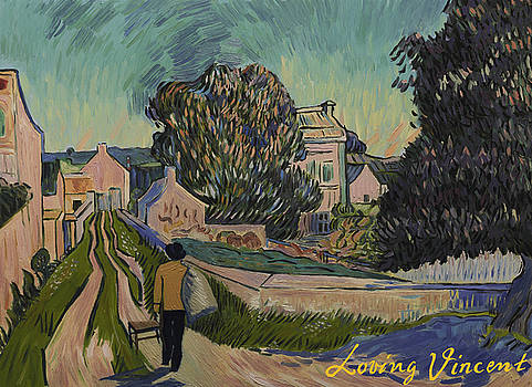 I've decided to retrace the path that Vincent took with his easel that day by Carmen Belean
