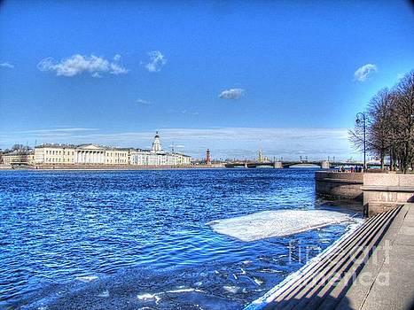 iver St. Petersburg in winter by Yury Bashkin