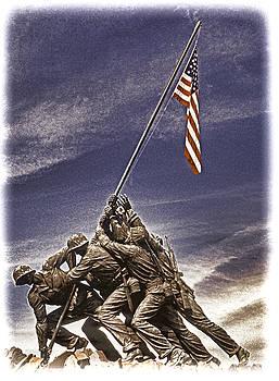Dennis Cox WorldViews - Iwo Jima Flag Raising