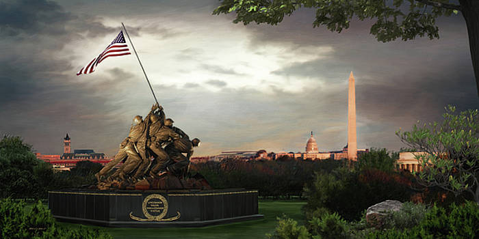 Iwo Jima Memorial by Brent Borup