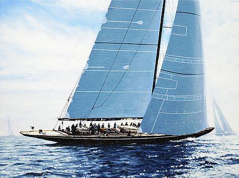 J Class Yacht, Lionheart by Mark Woollacott