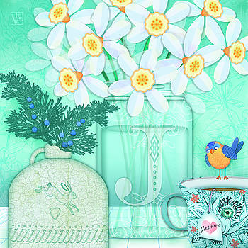 J is for Jar of Jonquils by Valerie Drake Lesiak
