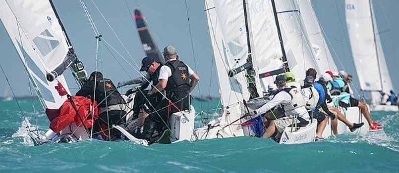 Steven Lapkin - J70 Key West Rounding