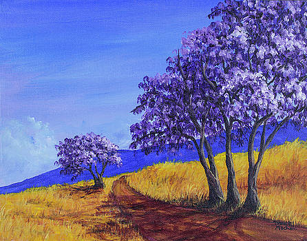 Darice Machel McGuire - Jacaranda Trees Maui