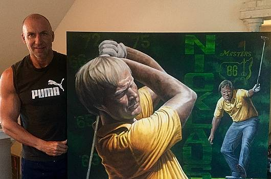 Jack Nicklaus Original Painting for sale  by Sports Art World Wide John Prince
