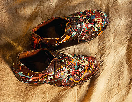 Jackson Pollack's Shoe's? by Steve Bisgrove