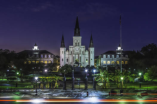 Chris Coffee - Jackson Square and St. Louis Cathedral at Dawn, New Orleans, Louisiana