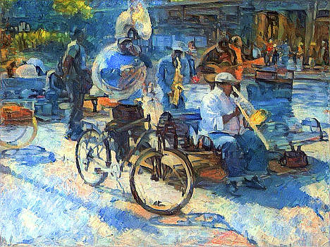 Jackson Square Brass Band by John Boles