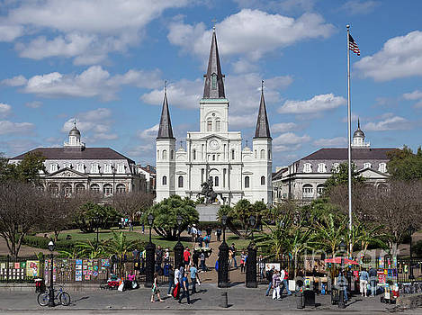 Jackson Square in New Orleans by Louise Heusinkveld