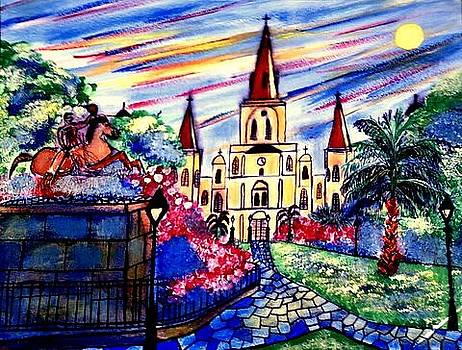 Jackson Square New Orleans by Ted Hebbler