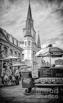 Kathleen K Parker - Jackson Square Scene New Orleans - BW