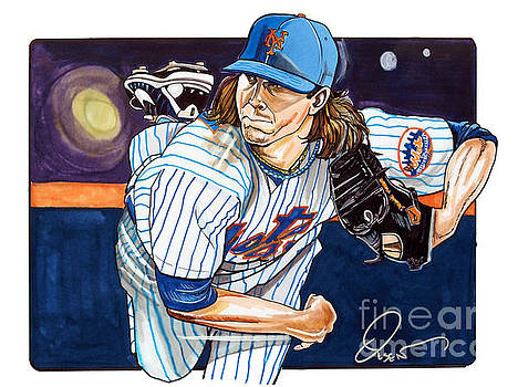 Jacob deGrom of the New York Mets by Dave Olsen