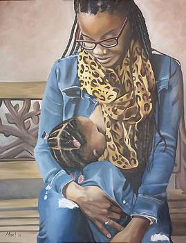 Jacobi Nursing Her Child by Miriel Smith
