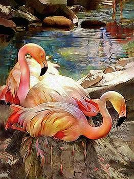Jacqueline's Flamingos by Jann Paxton