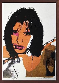 Jagger Fs Ii 141  by Andy Warhol
