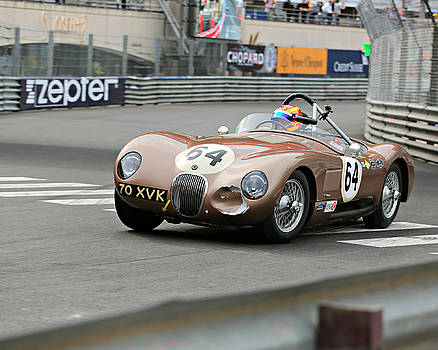 Jaguar C-Type at Monaco by Steve Natale