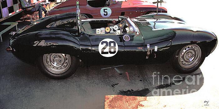 Jaguar D Type HDR by Curt Johnson