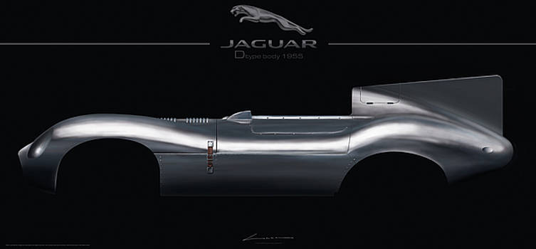 Jaguar Dtype body with Cat by Luc Cannoot
