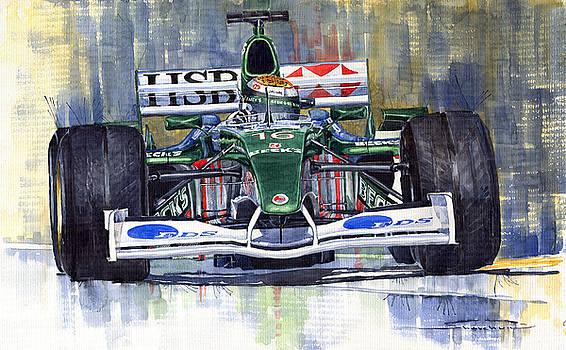 Jaguar R3 Cosworth F1 2002 Eddie Irvine by Yuriy  Shevchuk