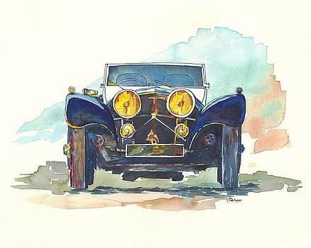 Jaguar SS 100 by Francoise Villibord Pointeau