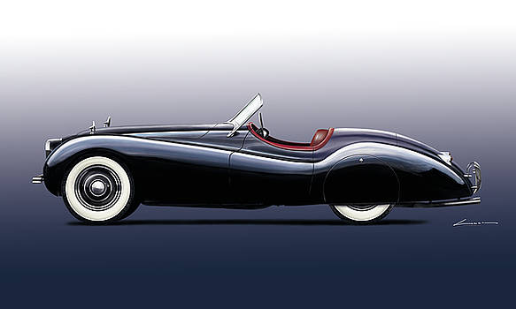 Jaguar XK 120 SE by Luc Cannoot