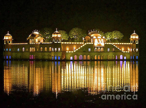 Jal Palace at Night by Michael Cinnamond