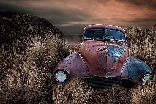 Jalopy Antique Car by Lori Hutchison