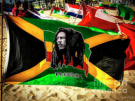 Julian Starks - Jamaica and Bob Marley Flag #3