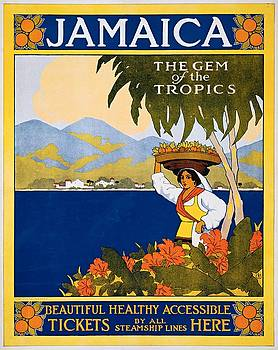 Jamaica, the gem of the tropics, Thomas Cook travel poster, 1910 by Vintage Printery