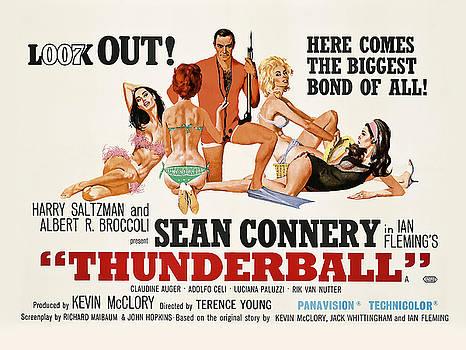 Daniel Hagerman - JAMES BOND THUNDERBALL LOBBY POSTER  1965