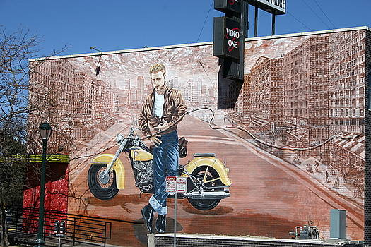 James Dean in Video One Mural, Denver by Beth Partin