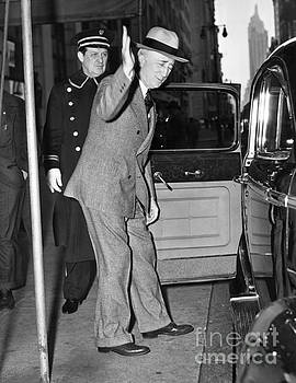 James F Byrnes, an American Politician from South Carolina leaving Savoy Elga Hotel.1946 by Barney Stein