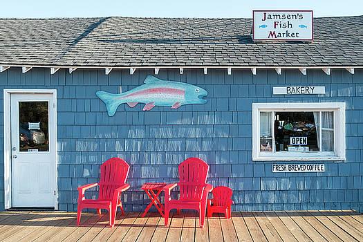 Jamsen's Fish Market Copper Harbor Michigan by Mary Lee Dereske