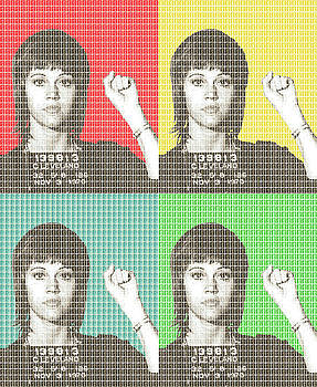 Jane Fonda Mug Shot x4 by Gary Hogben