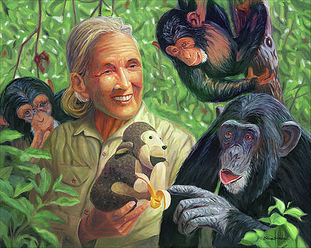 Jane Goodall by Steve Simon