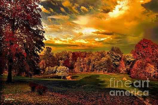 Jan's Farm in Autumn by Julie Dant