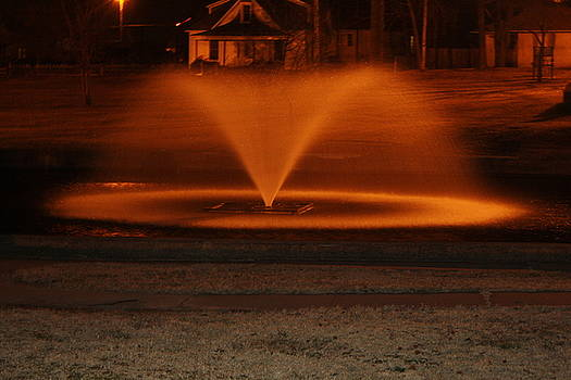 Jansen Park Fountain Night by Michael Jacoby