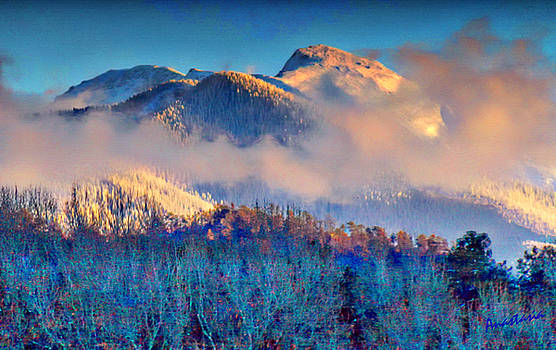 January Evening Truchas Peak by Anastasia Savage Ealy