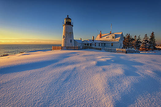 January Morn at Pemaquid Point by Rick Berk