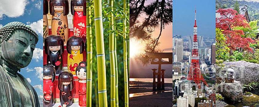Delphimages Photo Creations - Japan collage
