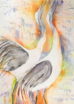 Japanese Cranes by Diane Splinter