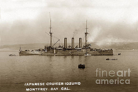 California Views Mr Pat Hathaway Archives - Japanese cruiser Izumo In Monterey Bay December 1913