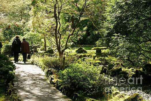 Japanese Garden at Butchart Gardens in spring by Louise Heusinkveld