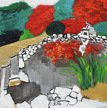 Japanese Garden Norfolk Botanical Garden 201820 by Alyse Radenovic
