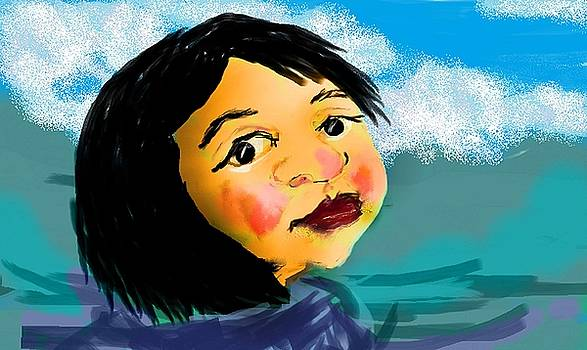 Japanese girl by Jeanette Lindblad
