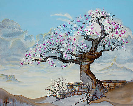 Japanese Magnolia In Spring by Eric Bachman