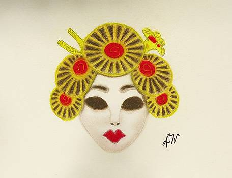Japanese Mask by Donna Wilson