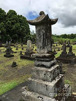 Japanese old head stone by Joseph Mora