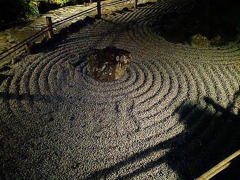 Michael Bessler - Japanese Stone Garden at night